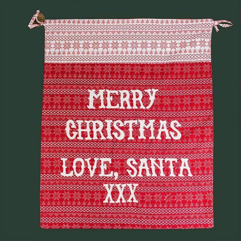 Fairisle Merry Christmas Sack
