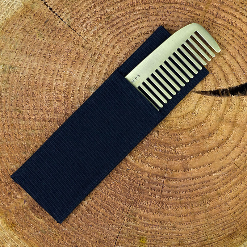 Brass Plated Comb and Cover - Fine And Dandy
