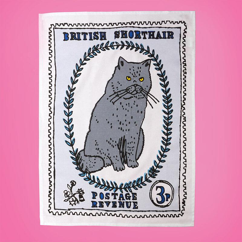 1st Class Cats Tea Towel Duo