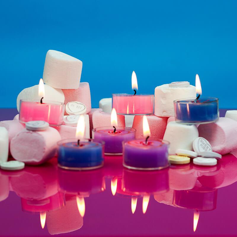 Love Hearts Tea Lights