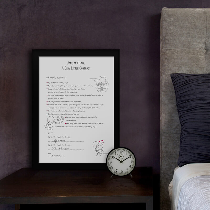 Chilli & Bubble's Personalised Love Contract