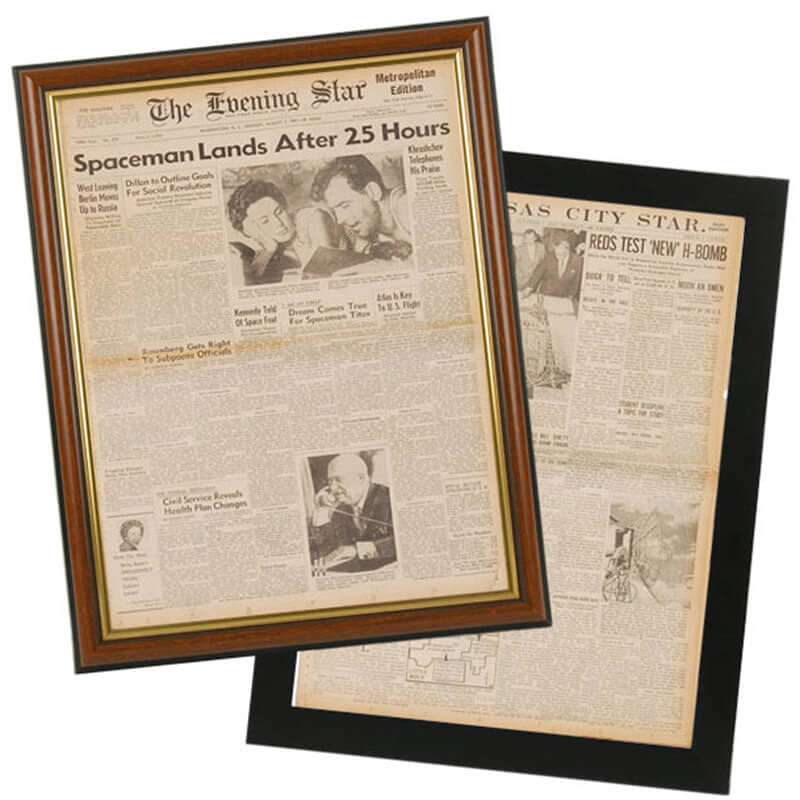 Significant Date Newspaper Front Page Framed Reprint - Buy from ...