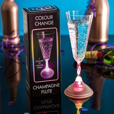LED Colour Changing Champagne Glass