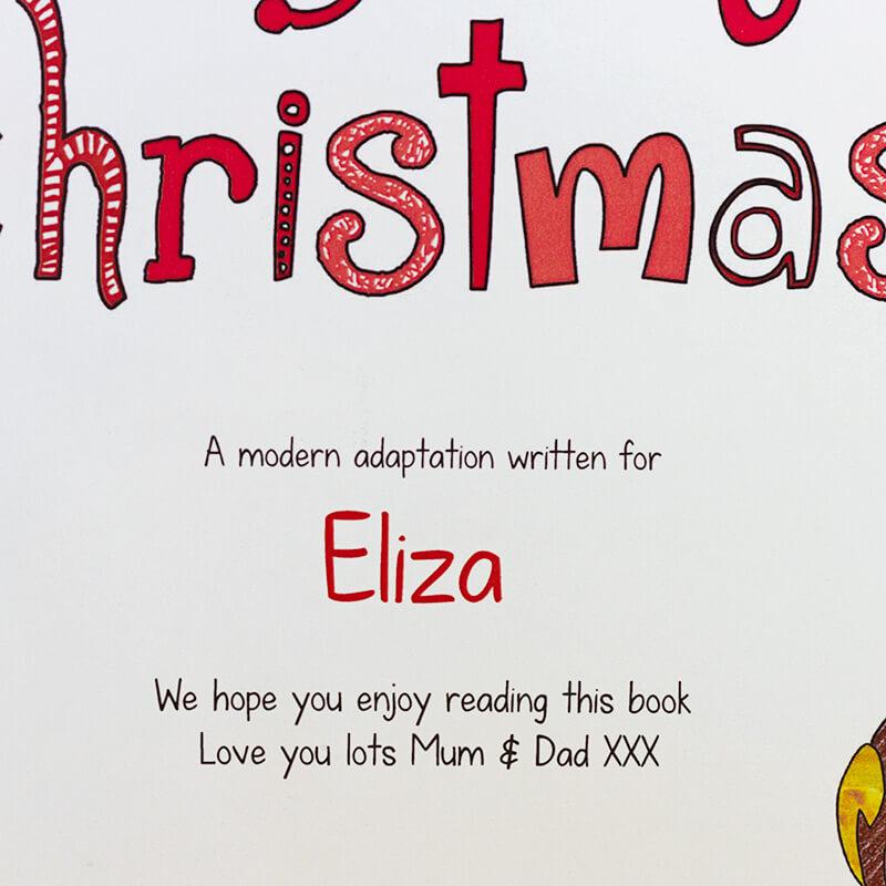 Personalised 12 days of Christmas Hardback Book