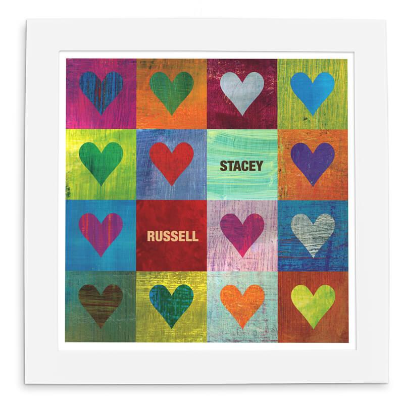 Personalised I Heart You Print