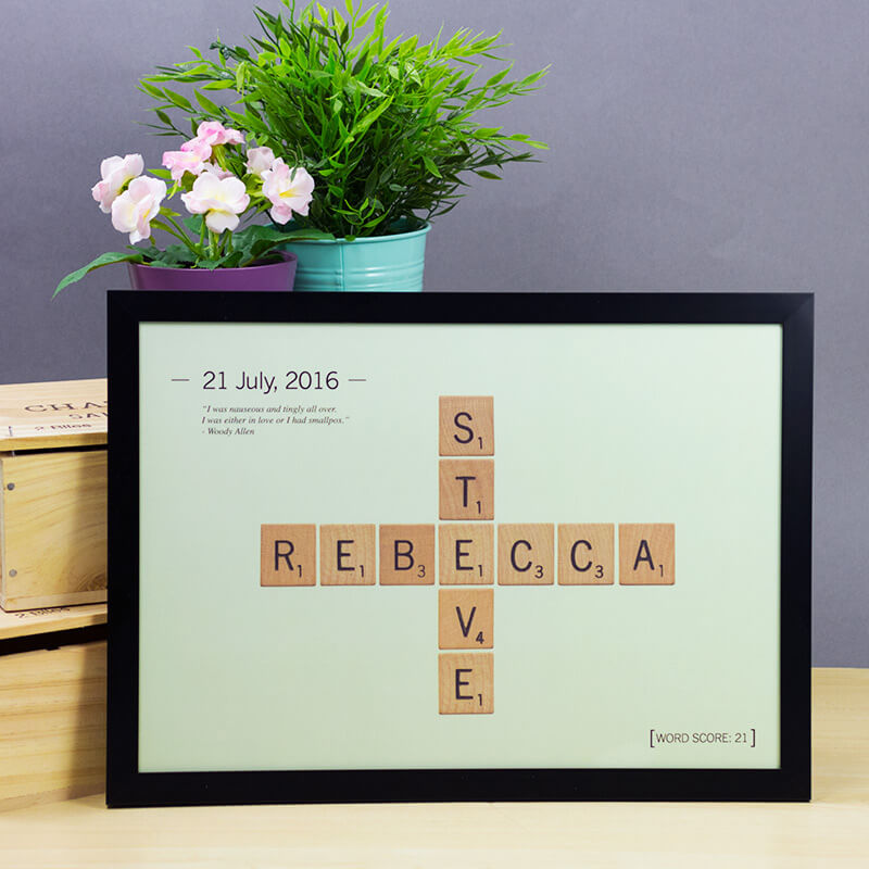 Love gifts and romantic gifts ideas for him and her from prezzybox personalised love tiles poster negle Choice Image