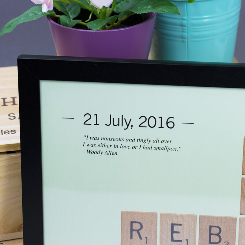 Personalised Love Tiles Poster