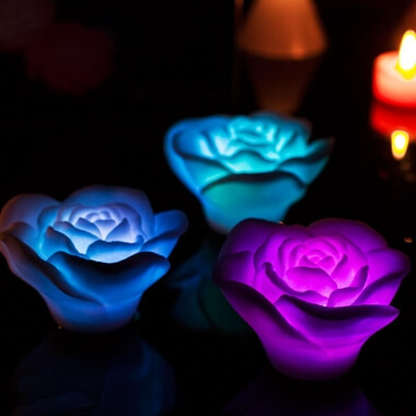 Floating Rose Bath Lights