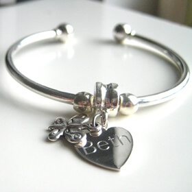 Personalised Butterfly Bangle