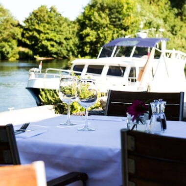 Three Course Meal and Champagne Cocktail for Two at Riverside Brasserie