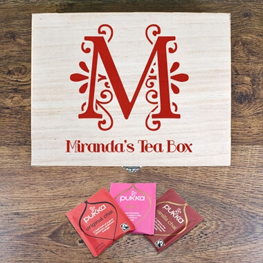 Personalised Love Chai Tea Box