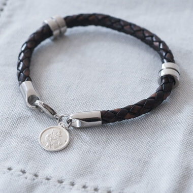 Personalised St Christopher Wristband