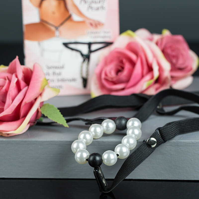 Lover's Thong With Pleasure Pearls