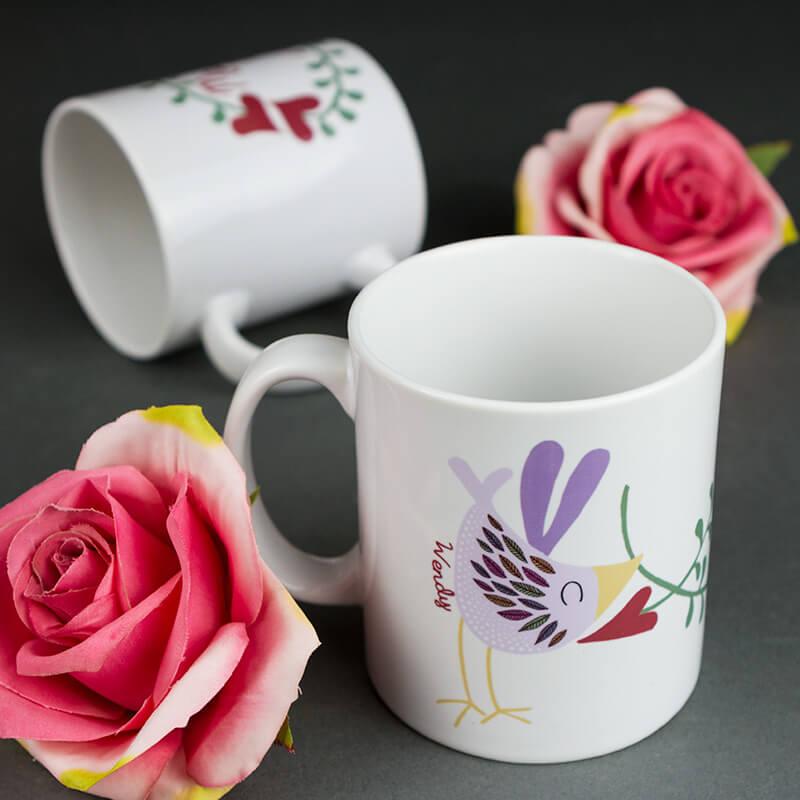 Personalised Love Bird Mugs