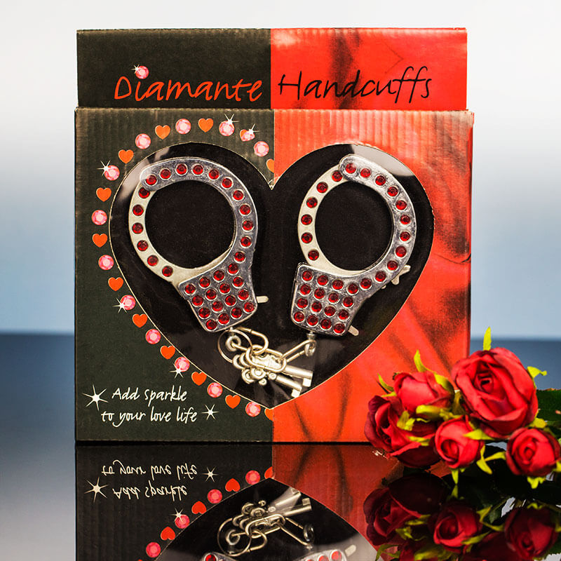 Diamante Handcuffs - Red