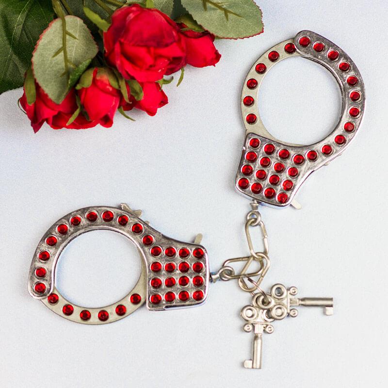 Diamante Handcuffs - Red