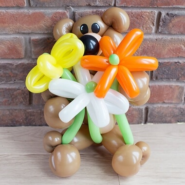 Balloon Bear & Flowers