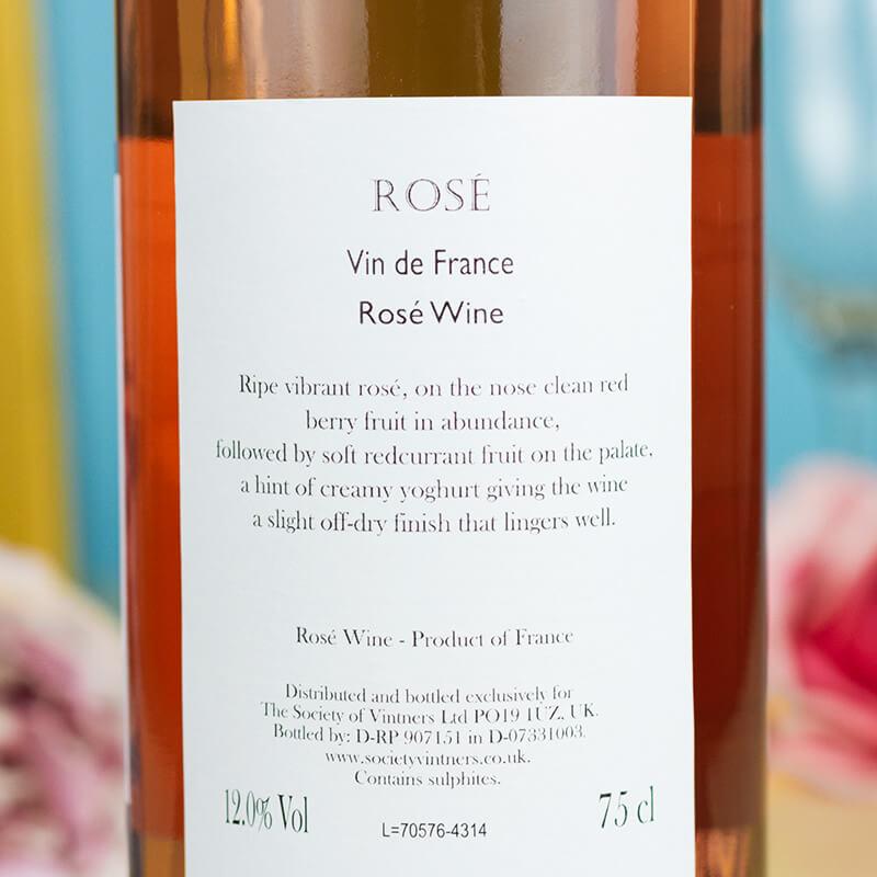 Personalised Bottle of Rose Wine