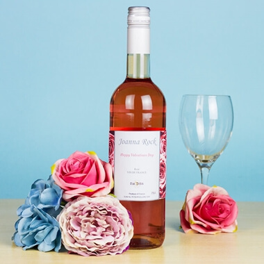 Personalised Bottle of Rose Wine