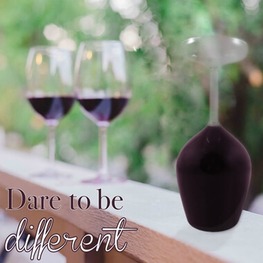 Upside Down Wine Glass - Set of 2