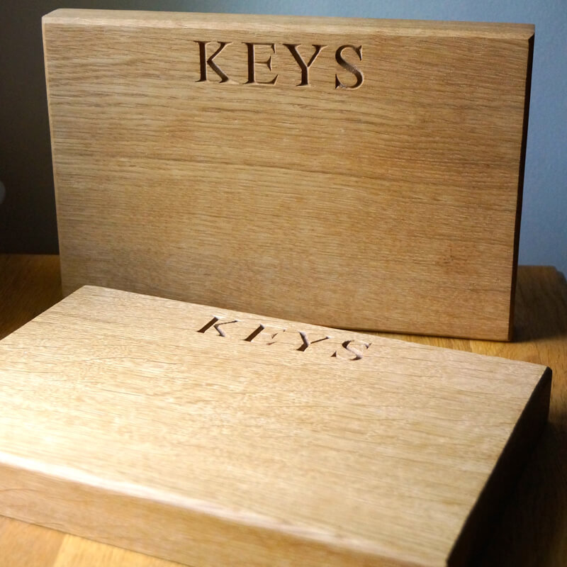 Personalised Oak Magnetic Key Holder