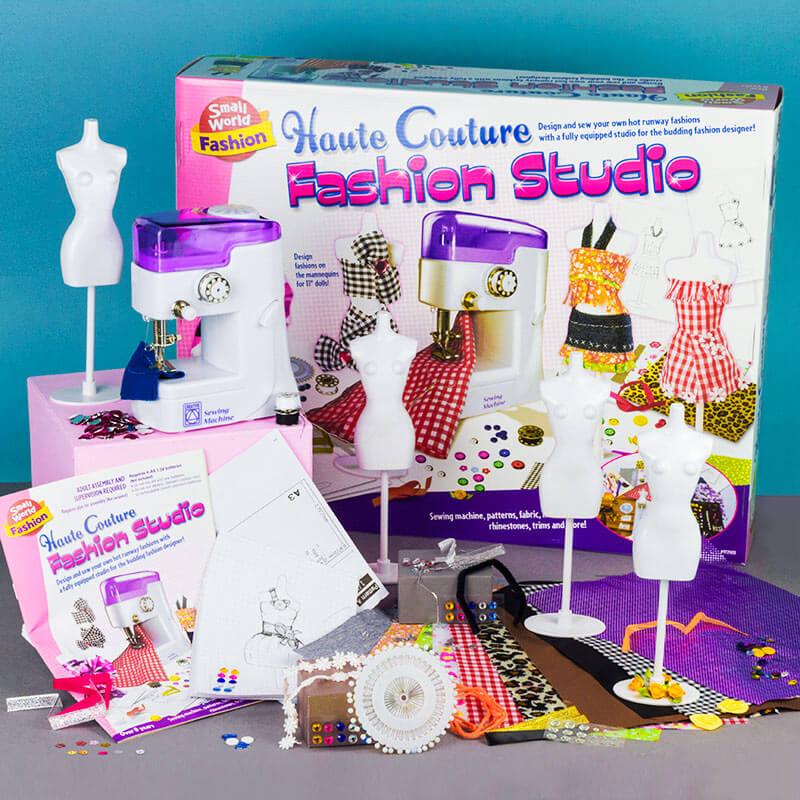 Haute Couture Fashion Studio with Sewing Machine
