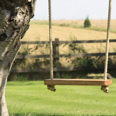 Personalised Wooden Swing