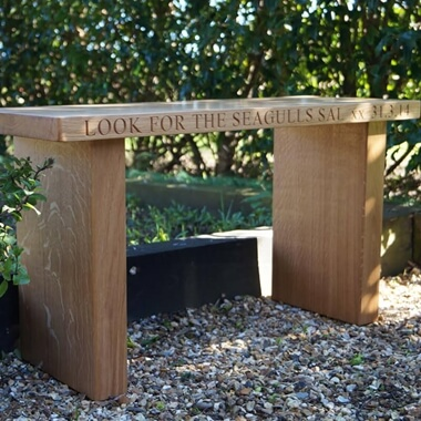 Small Personalised Wooden Bench