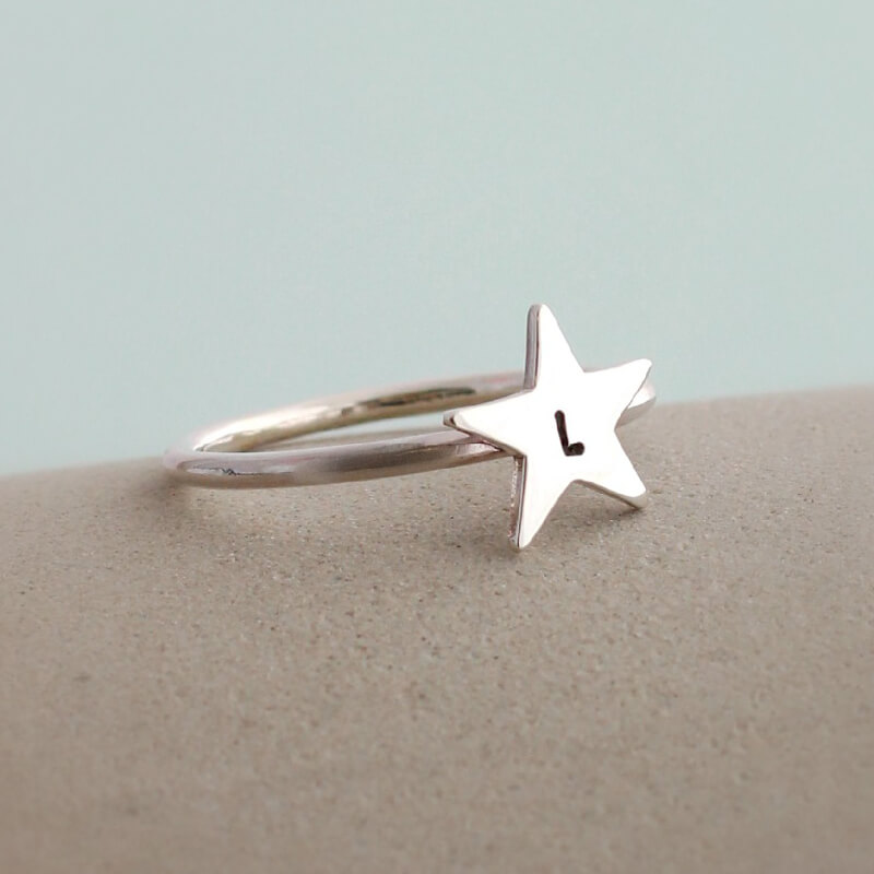 Personalised Star Ring