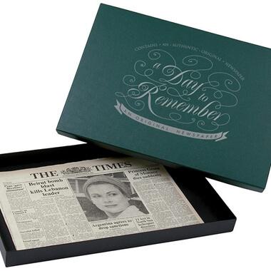 Original Archive Newspaper in Gift Box