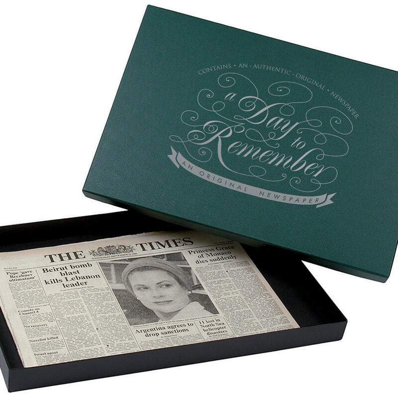 Original Archive Newspaper in Gift Box