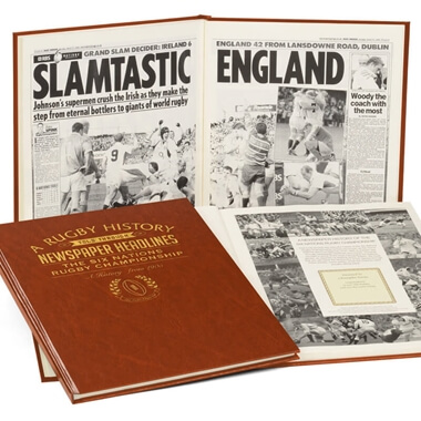 Personalised Six Nations Rugby Book