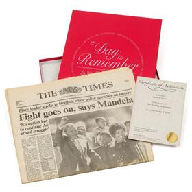 Original Archive Newspaper in Presentation Box