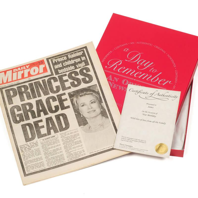 Original Newspaper 40th Birthday In Presentation Box