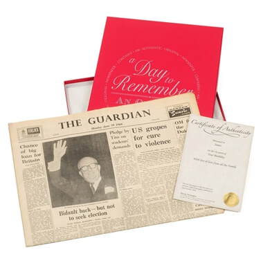 Original Newspaper 60th Birthday in a Gift Box