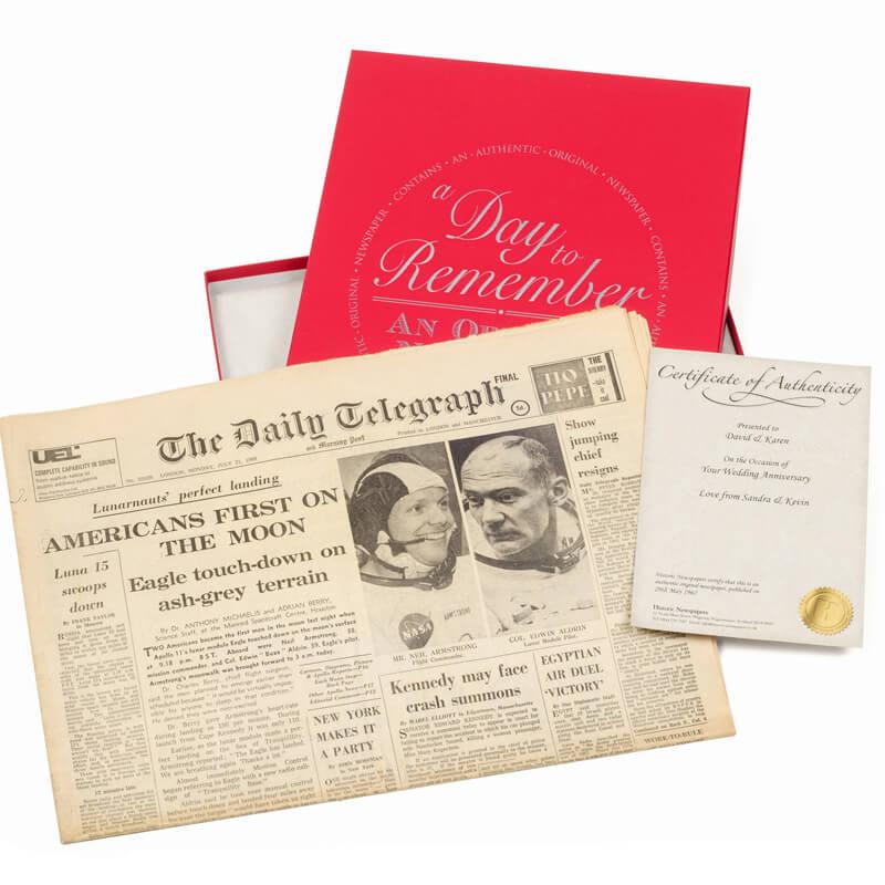 Original Newspaper 18th Birthday in a Gift Box
