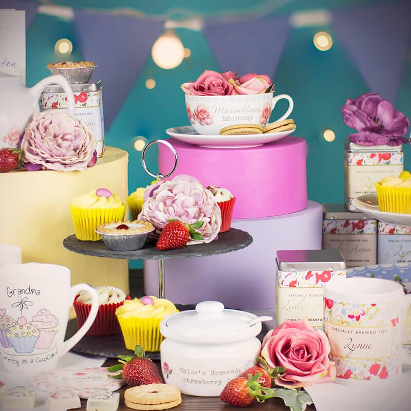 Personalised Rose Teacup & Saucer
