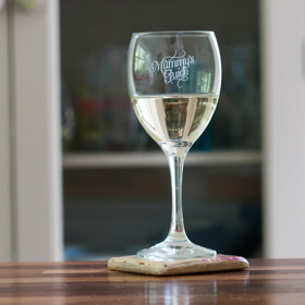 'Mummy's Juice' Glass