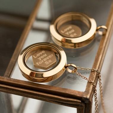 Personalised Floating Necklace Locket