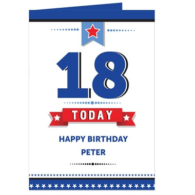 Personalised Birthday Star Card