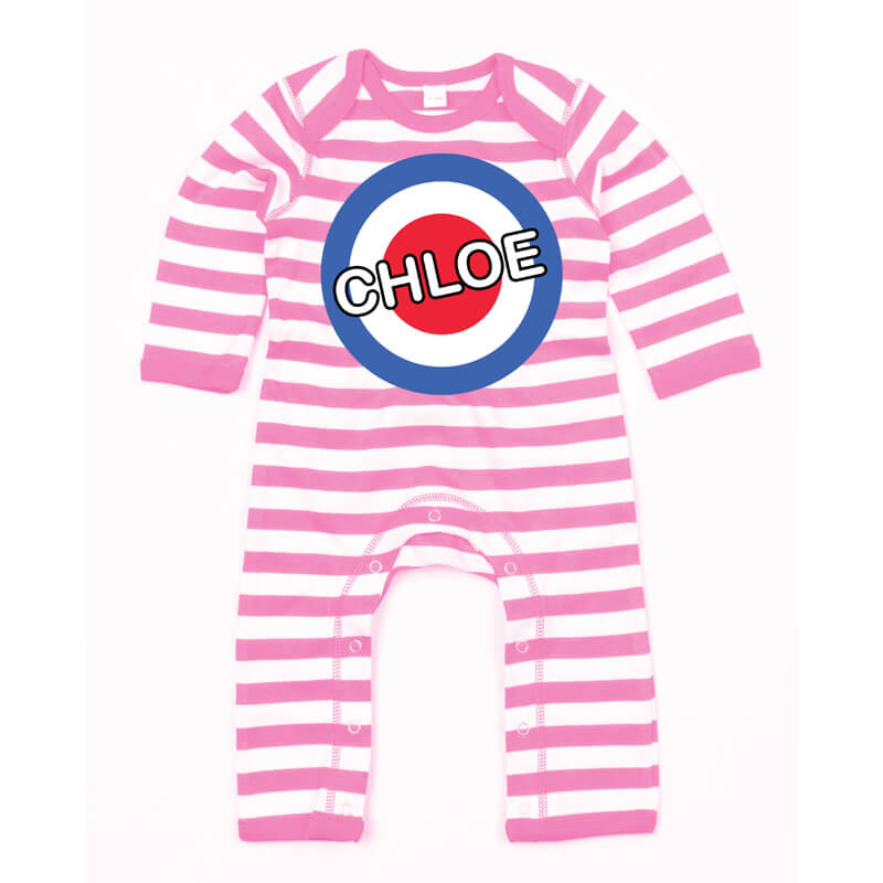Personalised Mini Mod Baby Grow
