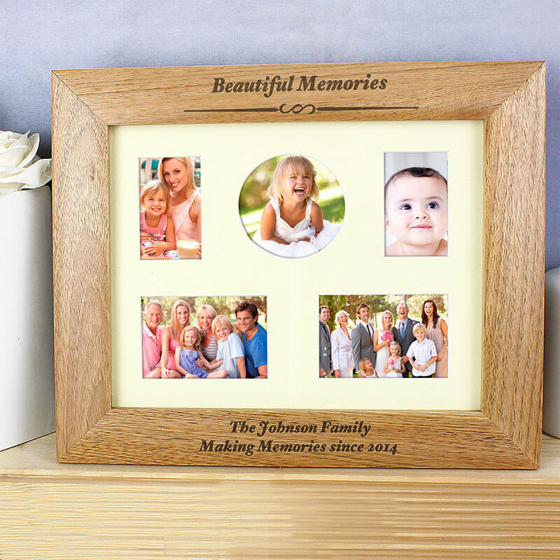 Personalised Any Message Multi Photo Frame - Buy from Prezzybox.com