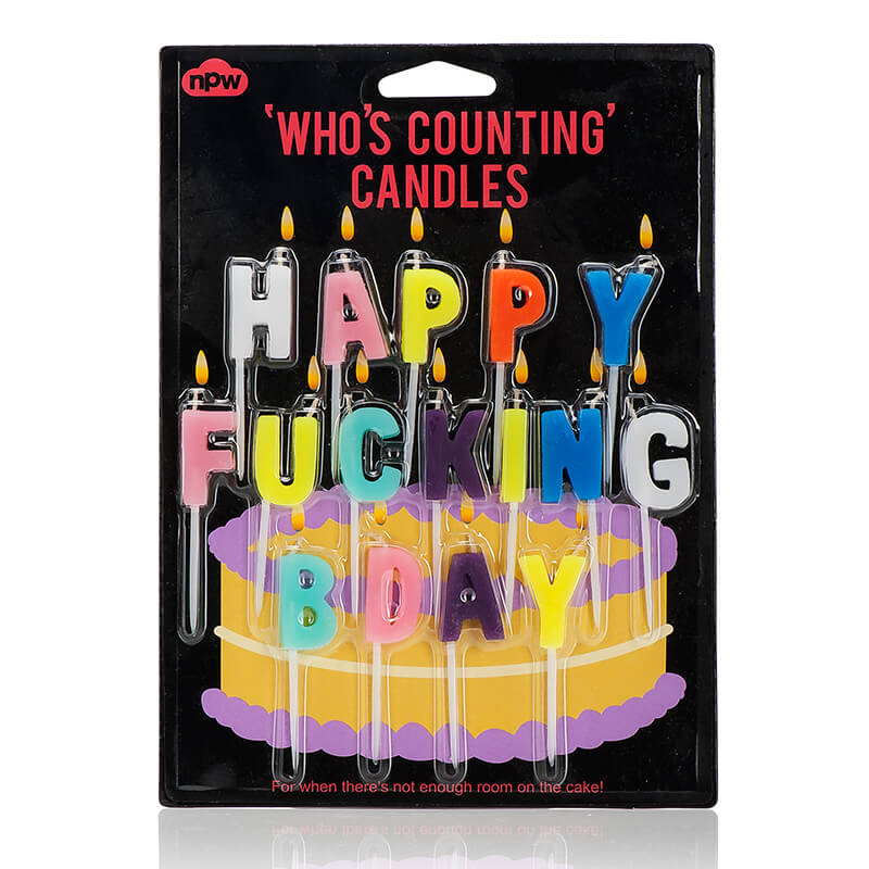 Happy F*cking B'day Candles