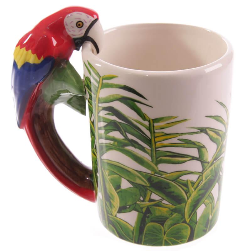 Parrot Shaped Handle Mug