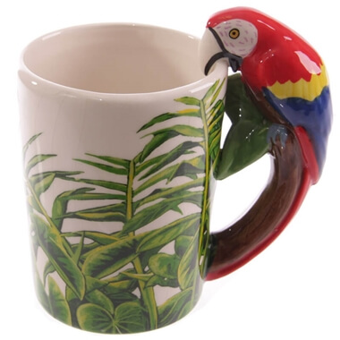 Parrot Shaped Handle Mug