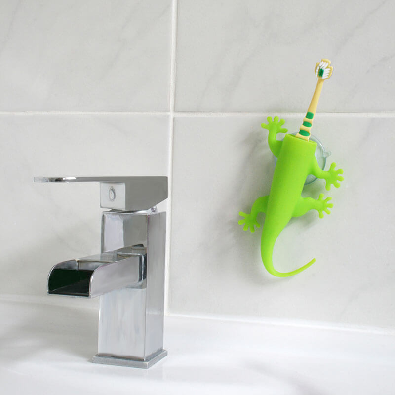 Larry Lizard Toothbrush Holder - Green