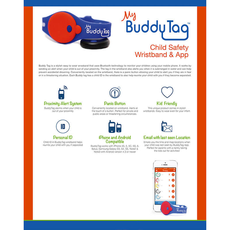 My Buddy Tag - Child Location Device - Blue