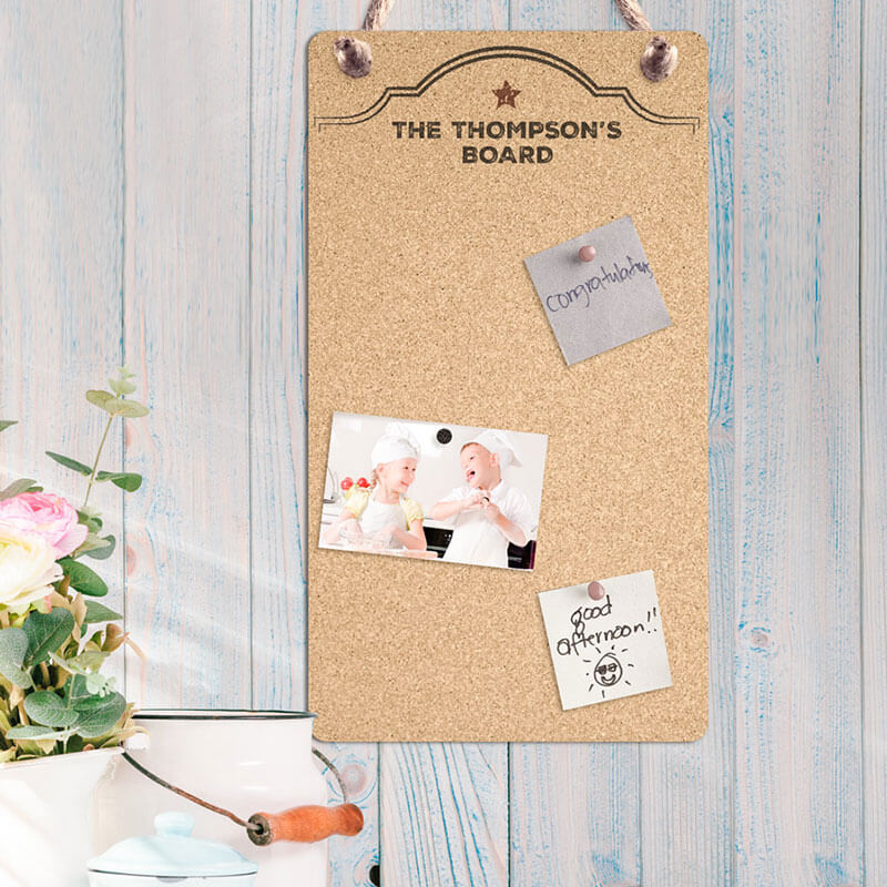 Personalised Large Cork Board