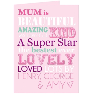 Personalised She Is... Card