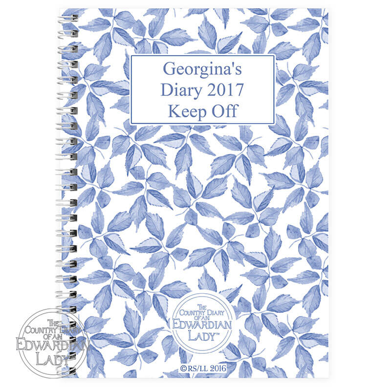 Personalised A5 Diary - Blue Blossom